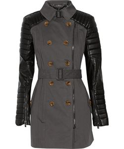 W118 by Walter Baker | Keanu Faux Leather-Paneled Cotton-Twill Trench Coat