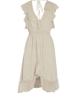 L'agence | Sophie Ruffled Silk-Chiffon Dress Off-