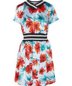 Suno | Floral-Print Silk-Satin Dress