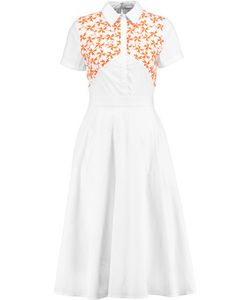 Tanya Taylor | Mia Embroidered Cotton-Blend Dress