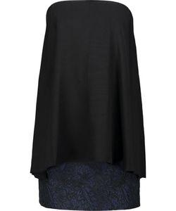 Tibi   Kaya Layered Silk And Jacquard Mini Dress