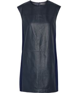 Vince | Wool Blend-Paneled Leather Mini Dress