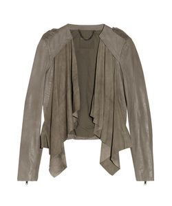 Muubaa | Lupus Draped Suede And Leather Biker Jacket