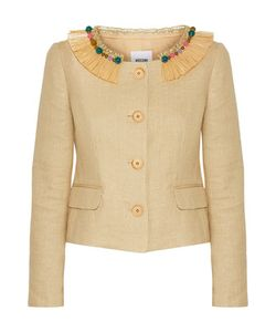 Moschino Cheap & Chic | Moschino Cheap And Chic Embellished Woven Cotton-Blend Jacket