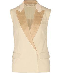 Reed Krakoff | Leather-Trimmed Cotton-Blend Piqué Vest