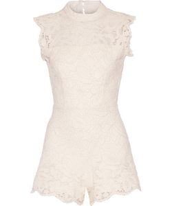 Alexis | Saint Lucia Cutout Corded Lace Playsuit
