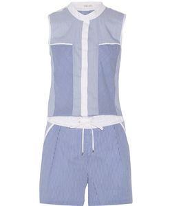 Ohne Titel | Striped Cotton-Blend Playsuit