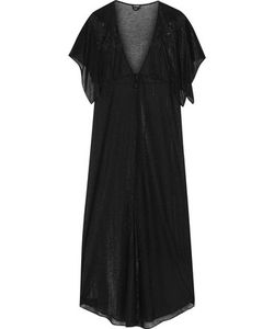 La Perla | Embroidered Metallic Modal-Blend Robe