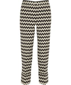 Issa | Blanche Wool-Blend Jacquard Straight-Leg Pants