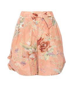 Zimmermann | Anais Floral-Print Cotton And Silk-Blend Voile Shorts