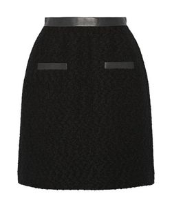 Jason Wu | Leather-Trimmed Wool-Bouclé Skirt
