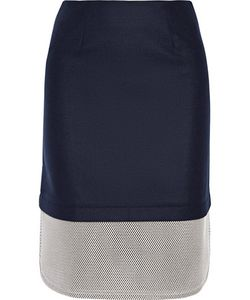 Mother Of Pearl | Tabley Mesh-Trimmed Brushed Wool-Blend Skirt