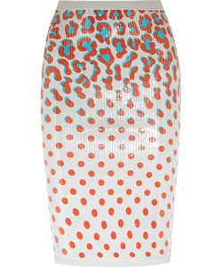 Sibling | Sequined Printed Jersey Pencil Skirt