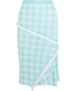 Sibling | Gingham Intarsia Knitted Skirt