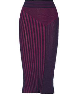 Ohne Titel | Ribbed Textured Cotton-Blend Midi Skirt