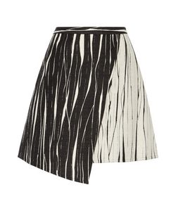 Raoul | Cassia Asymmetric Wrap-Effect Jacquard Skirt Off-