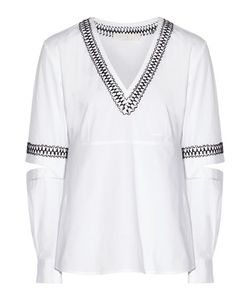 Thakoon Addition | Embroidered Cutout Cotton-Blend Top