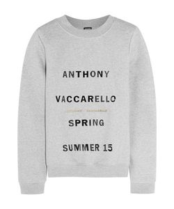 Anthony Vaccarello | Printed Cotton-Blend Jersey Sweatshirt