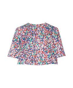 Suno | Floral-Print Cotton-Blend Faille Top