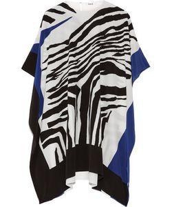 Issa | Kayla Draped Zebra-Print Silk Crepe De Chine Tunic