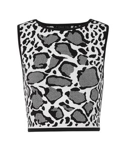 Ohne Titel | Reversible Leopard-Print Stretch Jacquard-Knit Top