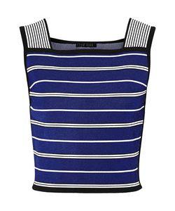 Ohne Titel | Cropped Striped Stretch-Knit Top