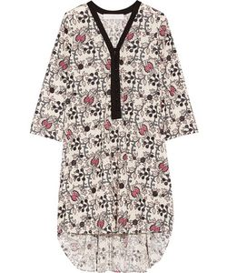 Thakoon | Addition Printed Eyelet-Cotton Dress Off-