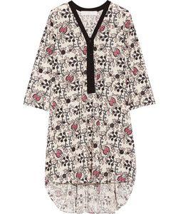 Thakoon | Addition Printed Eyelet-Cotton Dress Off-