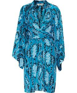 Issa | Poppette Wrap-Effect Printed Silk-Georgette Dress