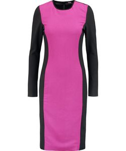 Raoul | Eva Suede-Trimmed Ponte And Stretch-Crepe Dress