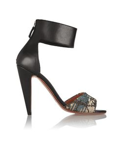 M Missoni | Leather And Metallic Crochet-Knit Sandals