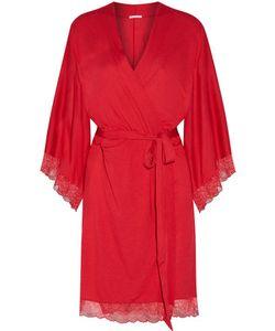 Eberjey | Cassandra Lace-Trimmed Stretch-Jersey Robe