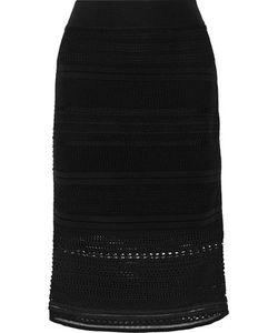 Ohne Titel | Stretch Crochet-Knit Skirt