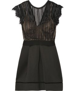Catherine Deane | Ina Pleated Lace And Cotton-Blend Neoprene Dress