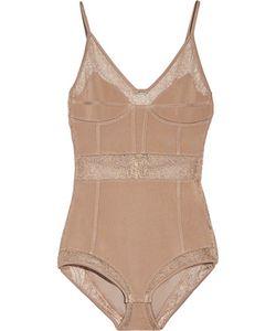 Balmain | Lace-Paneled Ponte Bodysuit