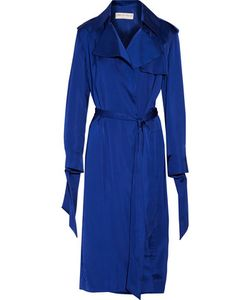 Emilio Pucci | Belted Satin Trench Coat