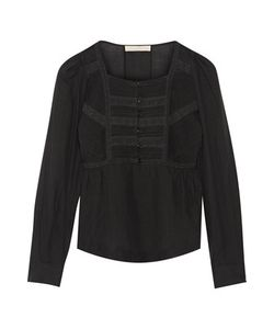 Vanessa Bruno | Dabel Lace-Paneled Cotton-Blend Voile Top