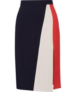 Tanya Taylor | Gigi Color-Block Herringbone Stretch-Crepe Skirt