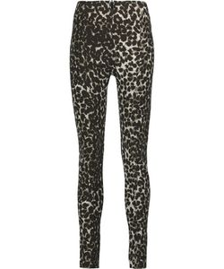 Norma Kamali | Leopard-Print Stretch-Cady Leggings