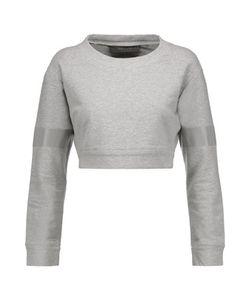 Norma Kamali | Cropped Stretch-Cotton Sweatshirt