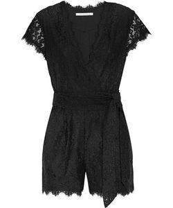 Diane von Furstenberg | Purdette Wrap-Effect Corded Lace Playsuit