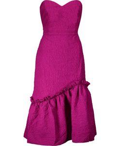 Saloni | Alara Polka-Dot Cloqué Midi Dress