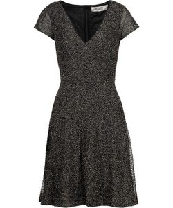 Badgley Mischka | Beaded Mesh Tulle Dress