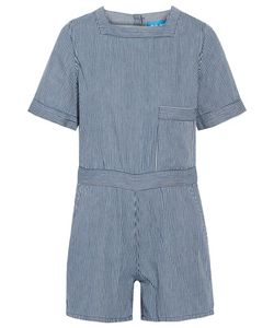 M.i.h Jeans | Biarritz Striped Cotton Playsuit