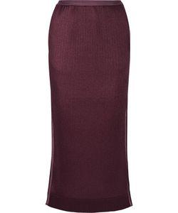 Barbara Casasola | Pleated Crepe De Chine Midi Skirt