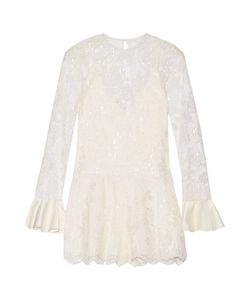 Alexis | Yumi Cutout Embellished Corded Lace Playsuit