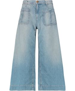 Current/Elliott | The Culotte Cropped Mid-Rise Wide-Leg Jeans