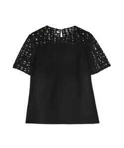 Jason Wu | Felted Wool-Blend And Lace Top