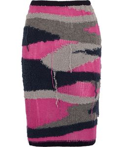 Sibling | Distressed Knitted Pencil Skirt