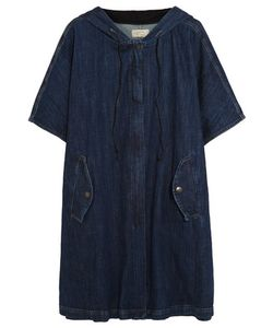 Current/Elliott | Oversized Stretch-Denim Hooded Poncho